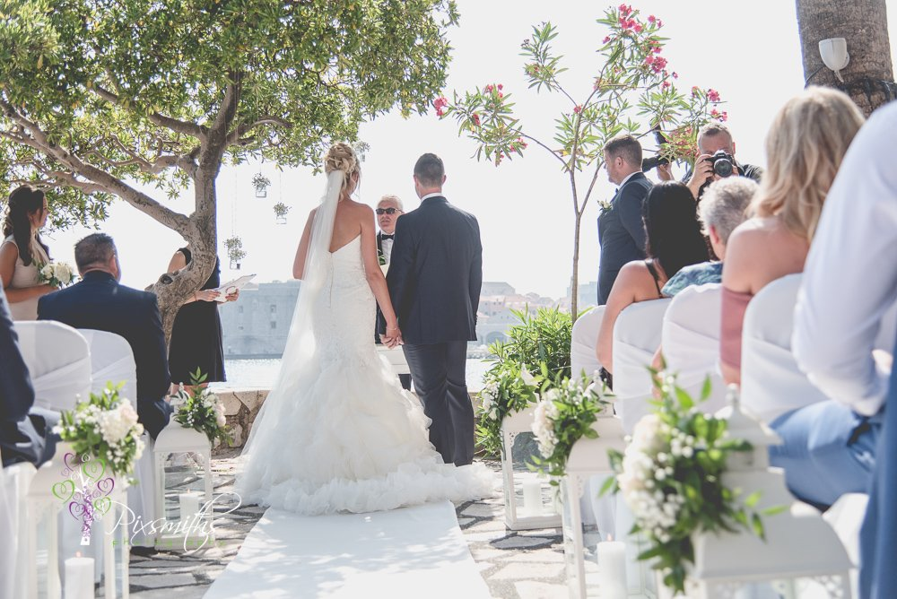 wedding ceremony Dubrovnik wedding Hotel Excelsior