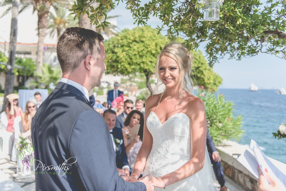 wedding vows Dubrovnik wedding Hotel Excelsior