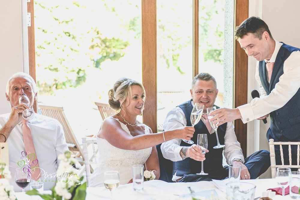 cheers at speeches Mere Brook House Wedding