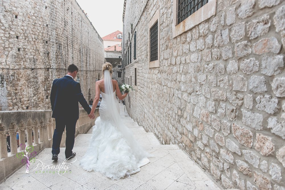 portraits old town Dubrovnik wedding walk of shame stairs game of thrones fame