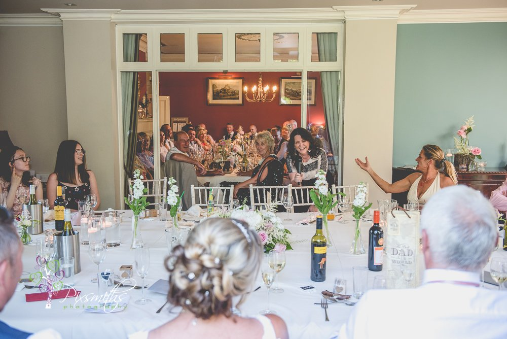 speeches captured at Mere Brook House wedding