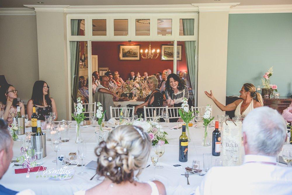 speeches captured at Mere Brook House wedding