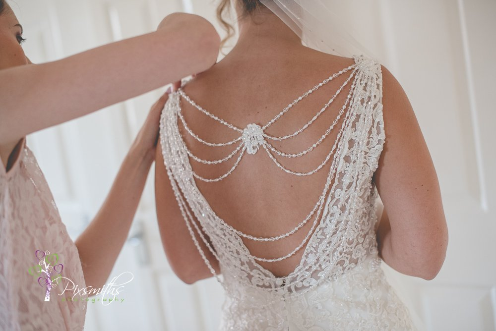 gorgeous back detail Bespoke Brides dress