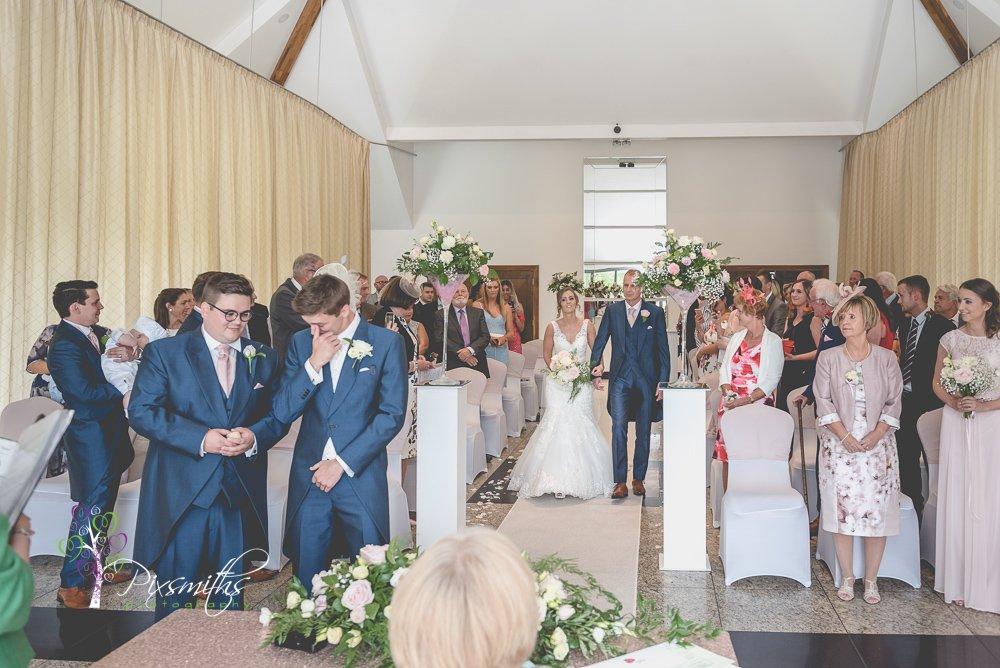 bridal entrace for Leverhulme Hotel wedding