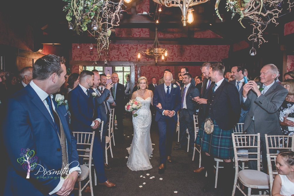 bridal entrance wedding Belle Epoque