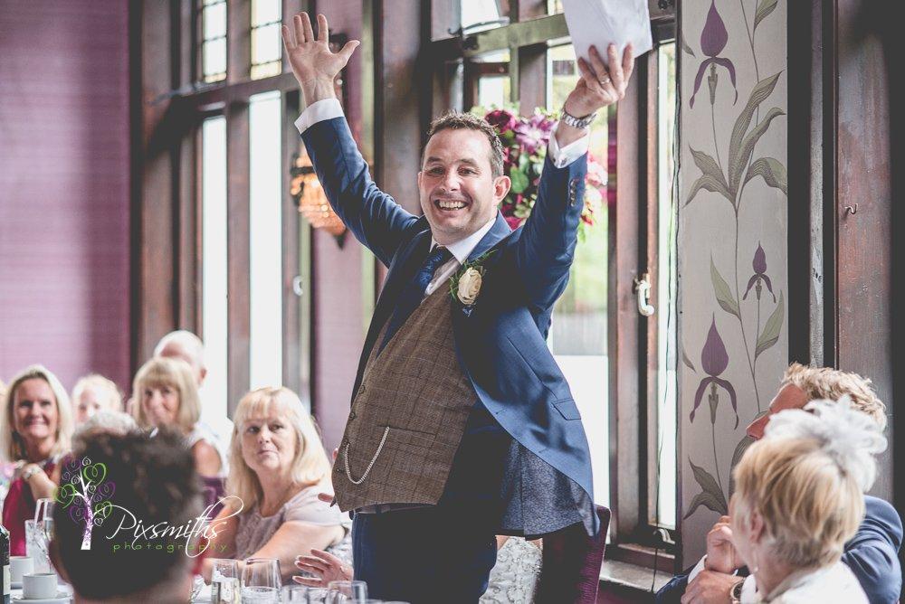 groom's speech wedding belle Epoque Knutsford