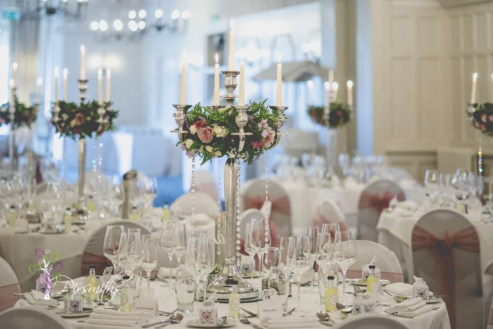 Leassowe Castle wedding reception venue dressing Embrace Events