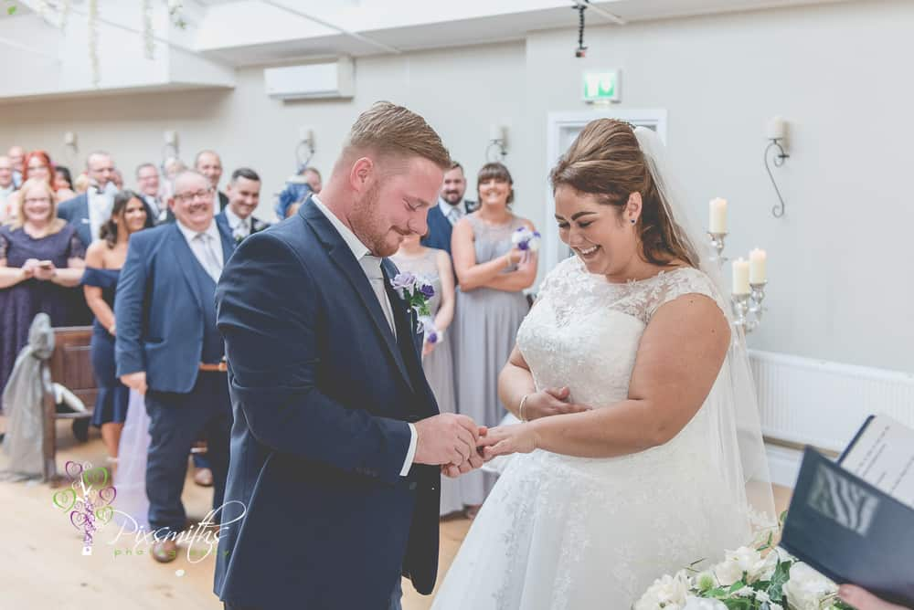 wedding ceremony Leasowe Castle Twilight wedding
