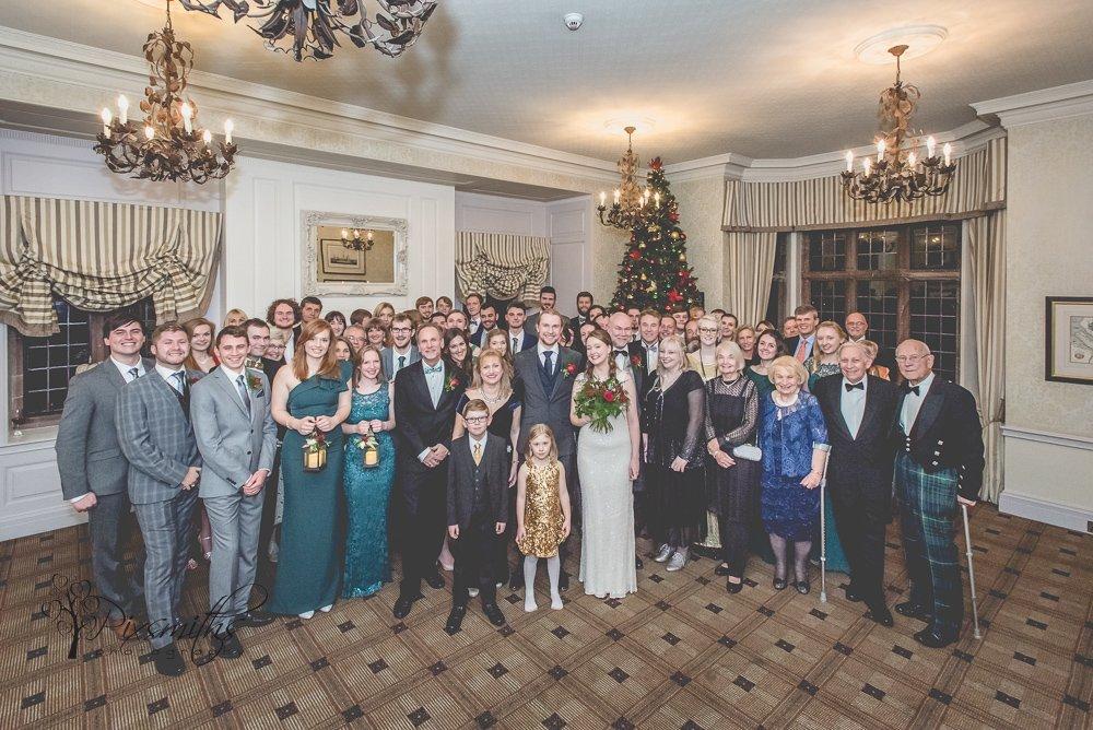 Indoor group Inglewood Manor winter wedding