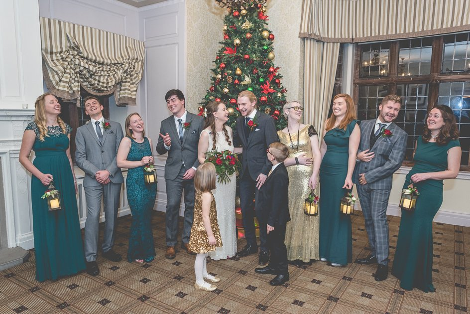 bridal party group Inglewood Manor wedding