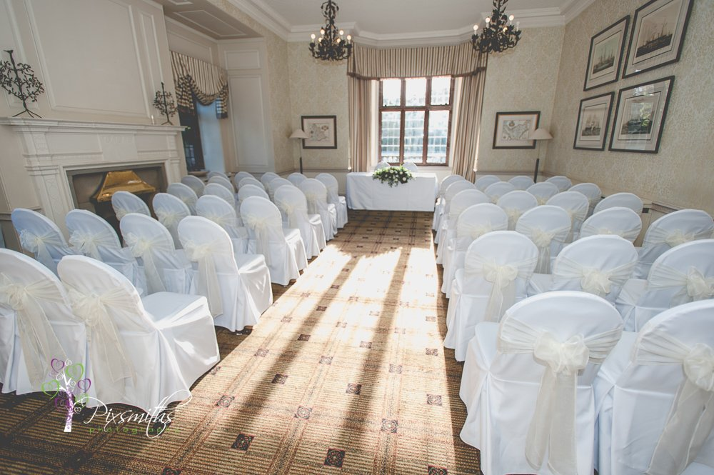 wedding ceremony set up Inglewood Manor