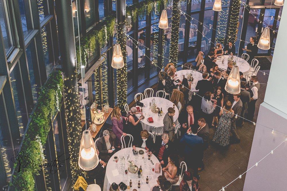 Siren reception view Liverpool wedding photography