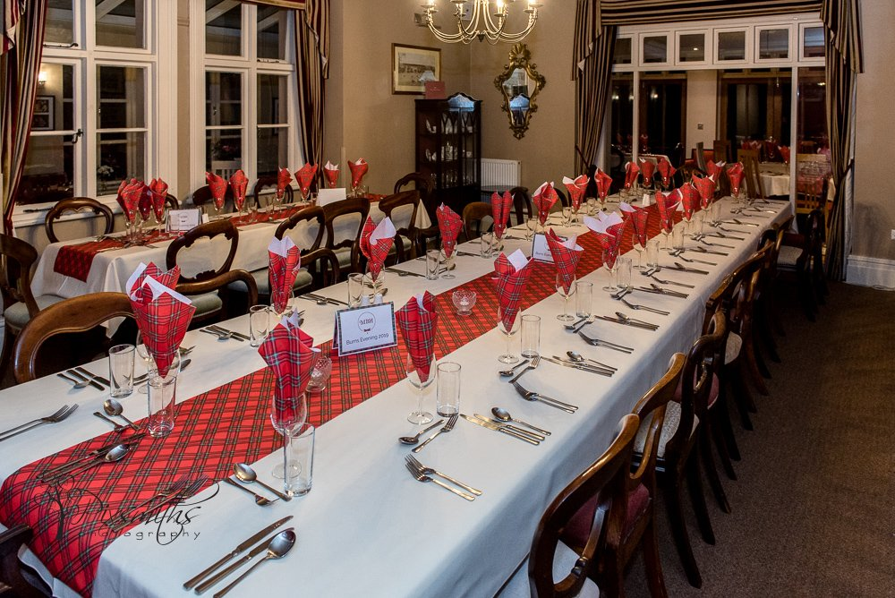 Mere Brook House decked out for Burns Night event