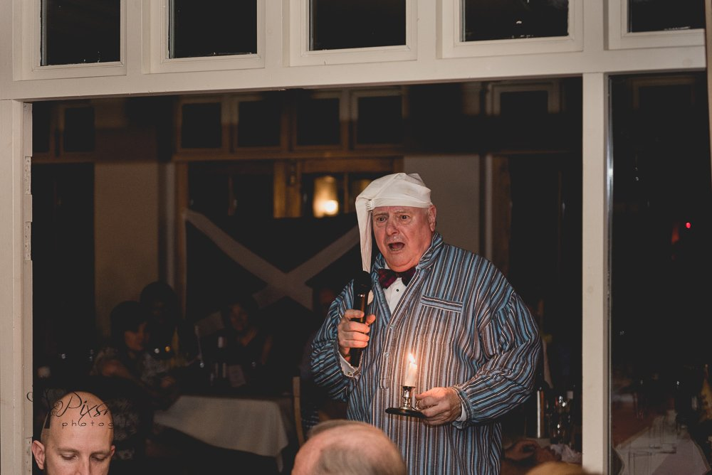 Burns night finale Mere Brook House Holy Willie's prayer