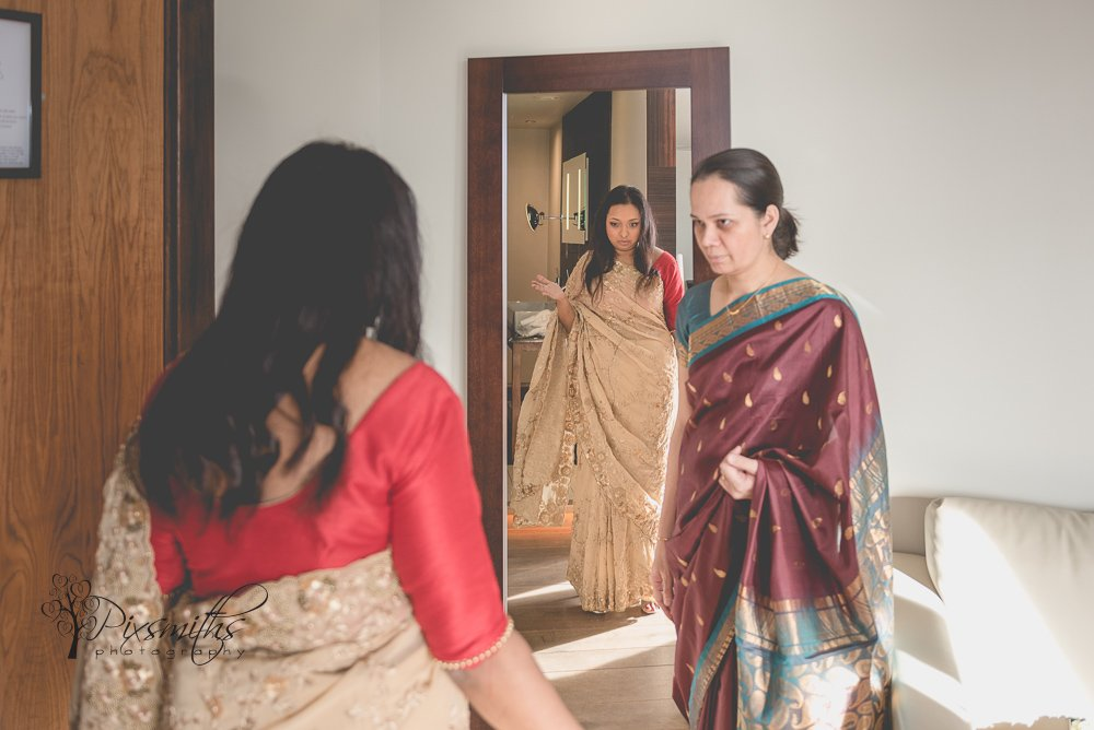 bridal preparations on the 6th floor Chester Abode Hotel