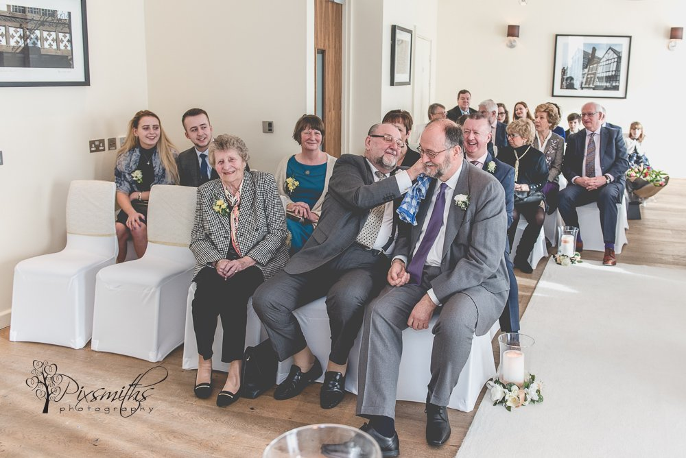 awaiting bride arrival Abode Chester wedding ceremony