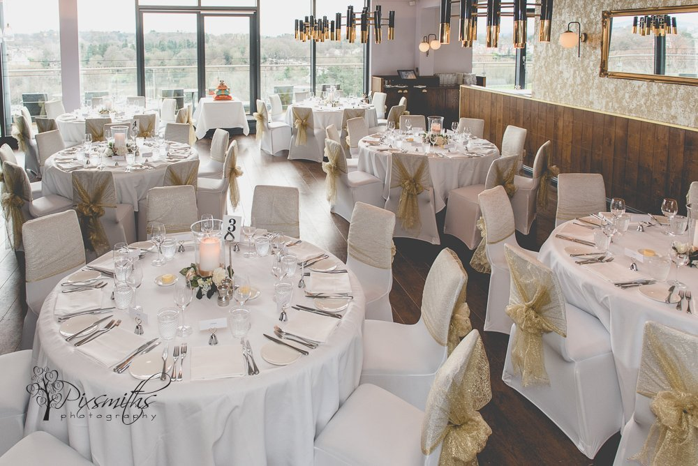 venue dressing for wedding at Abode Hotel Chester