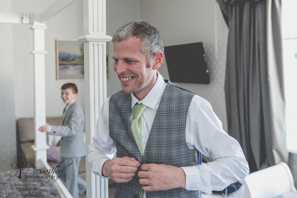 Groom prep Inglewood Manor wedding