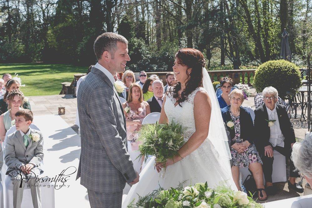 Outdoor weddign vows Inglewood Manor