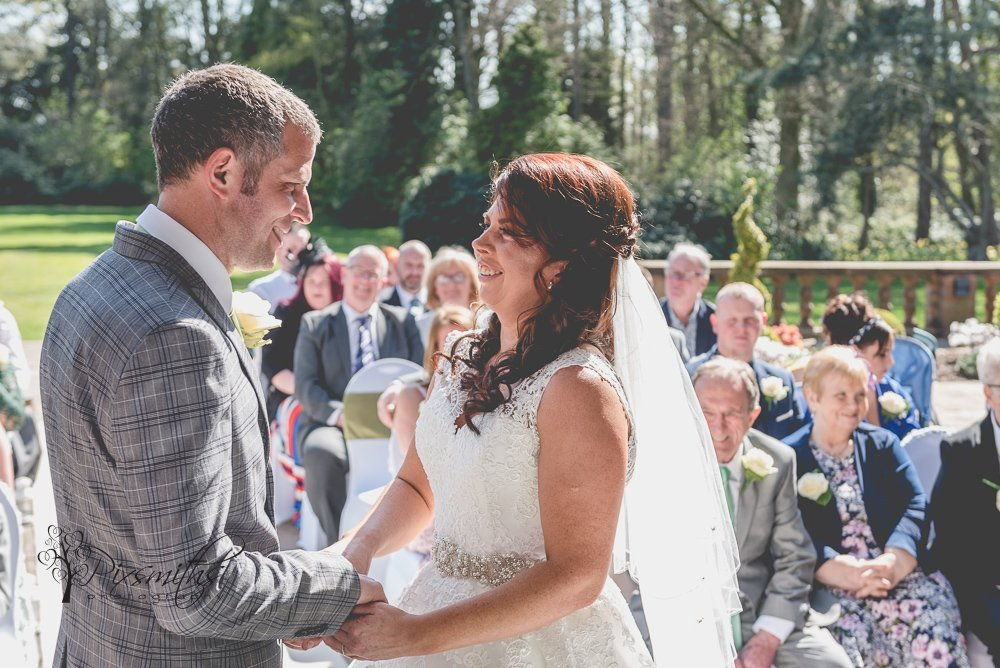 outdoor wedding ceremony Inglewood Manor Cheshire wedding