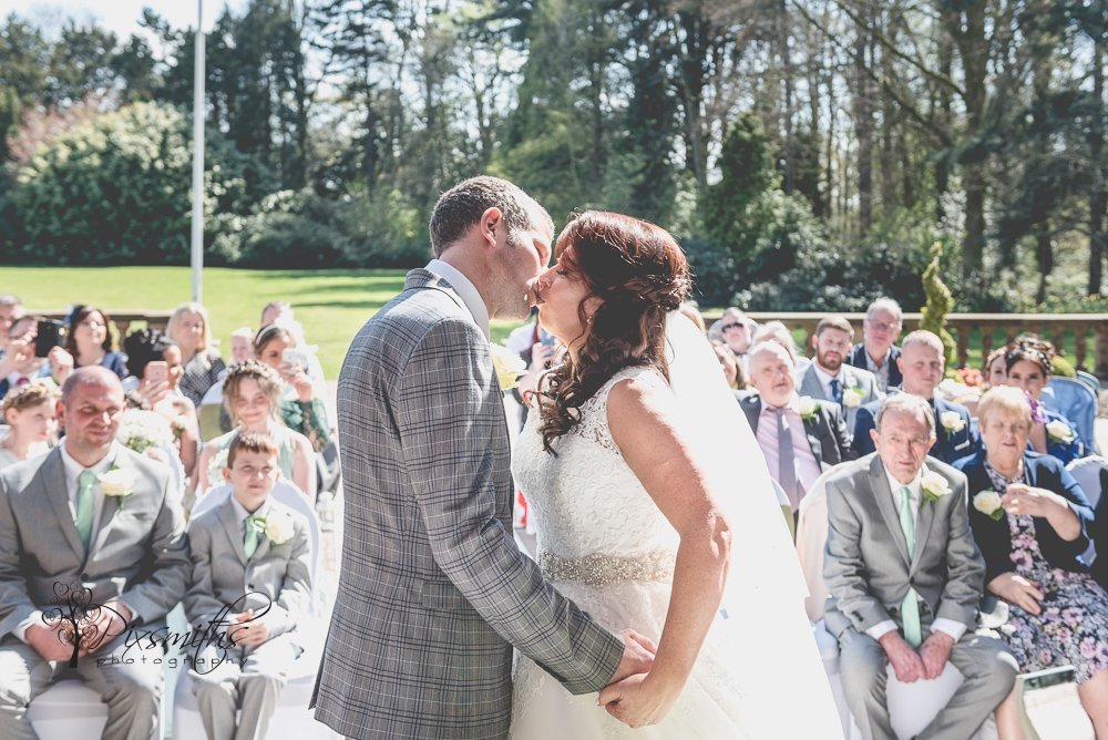 first kiss as man and wife Inglewood Manor wedding