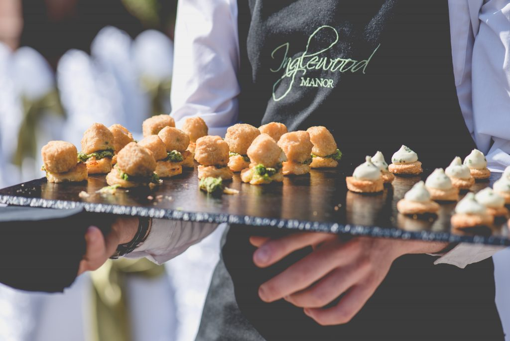canapes Inglewood Manor wedding