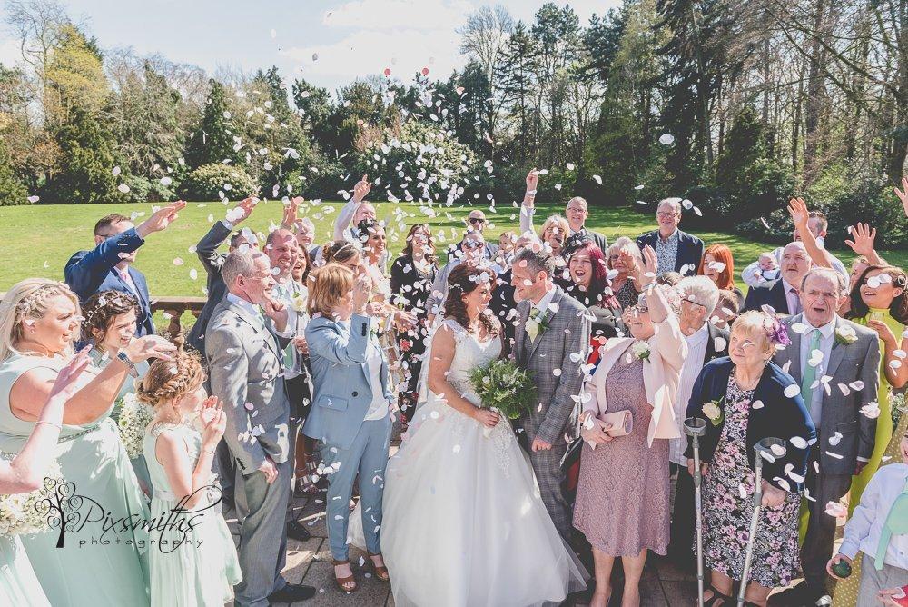 confetti shot Spring Inglewood Manor wedding