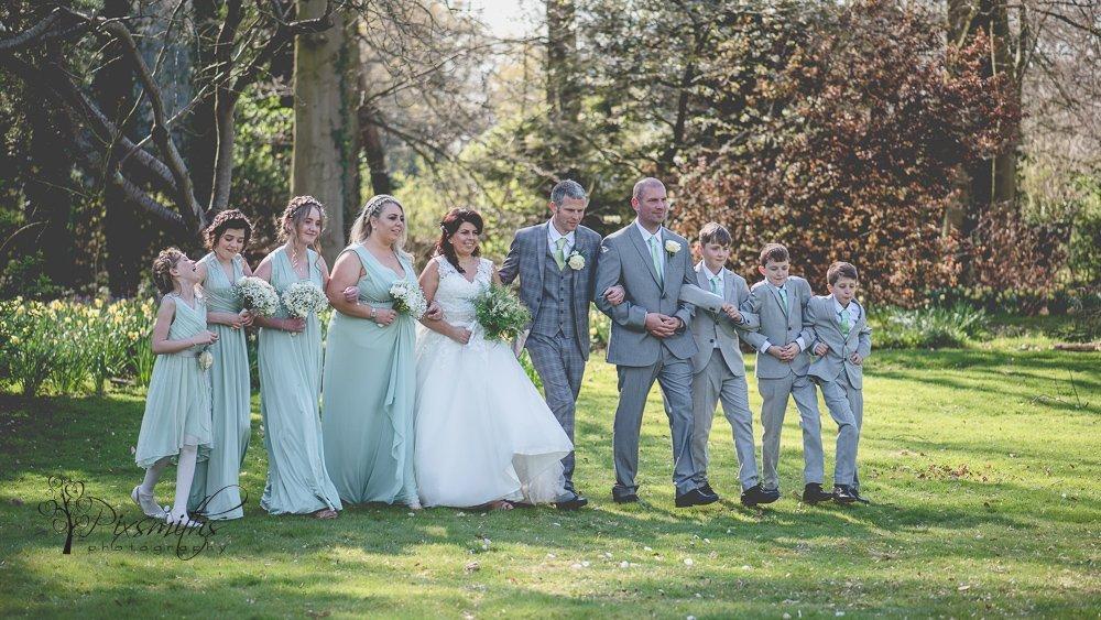 Bridal party shot Spring Inglewood Manor wedding