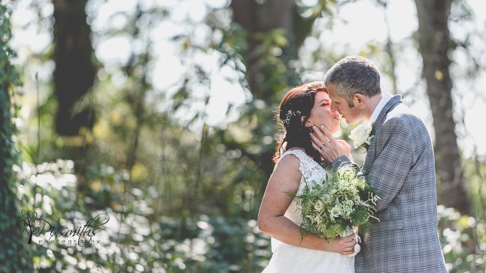 romantic bride and groom portrait Inglewood Manor, natural wedding photography