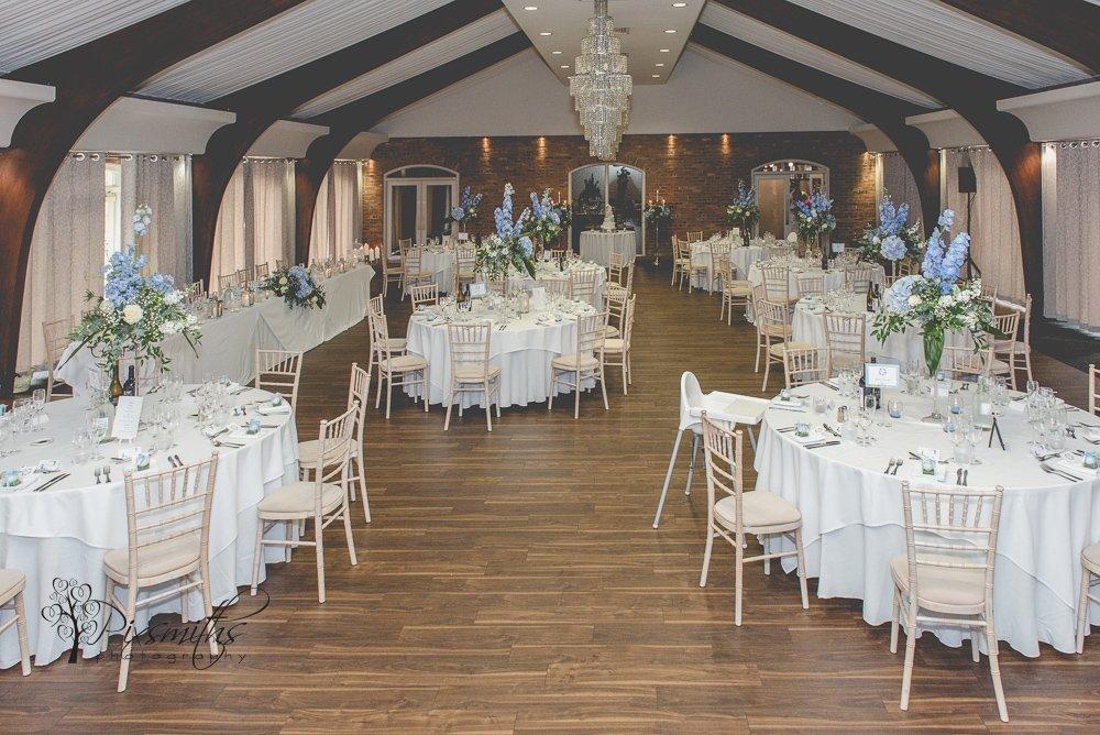 reception Peel Suite Colshaw hall wediding