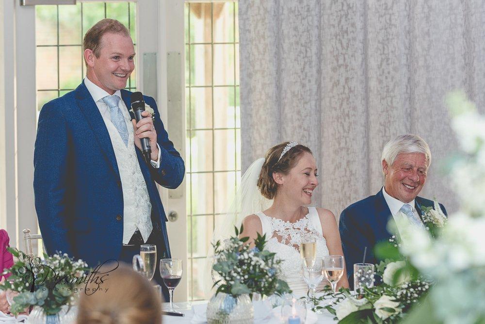 Colshaw Hall wedding speeches