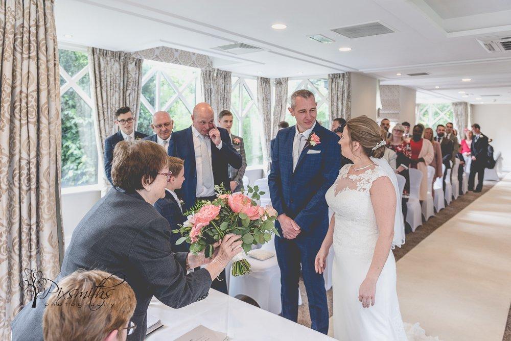 wedding ceremony Crabwall Manor