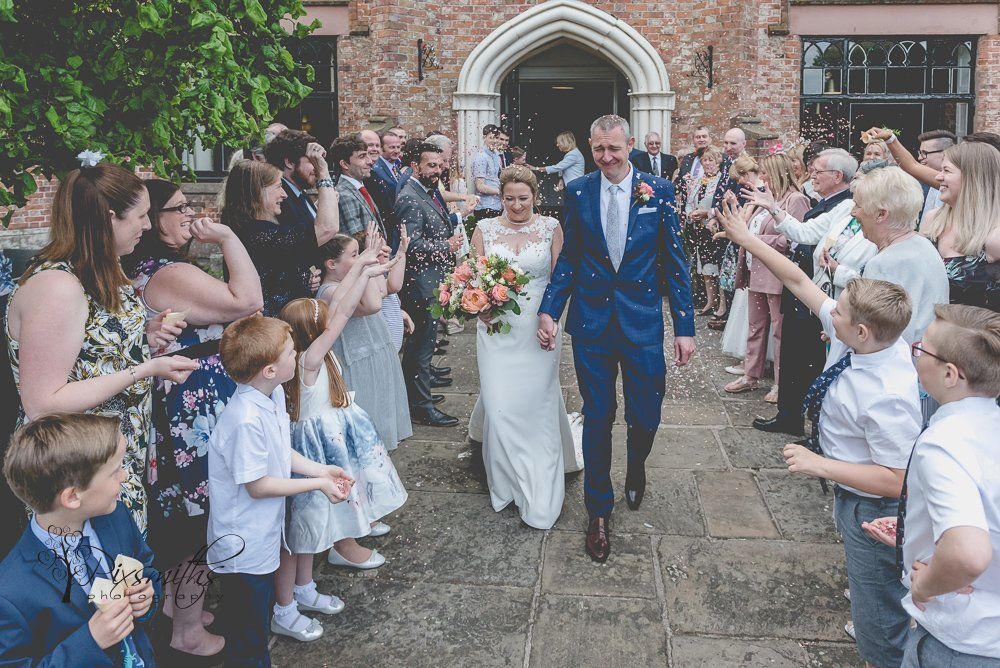 confetti shot Crabwall Manor wedding