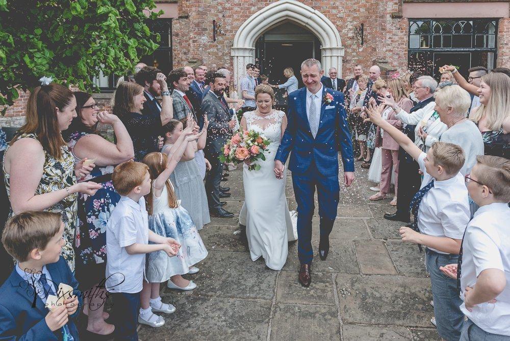 confetti shot Crabwall Manor wedding