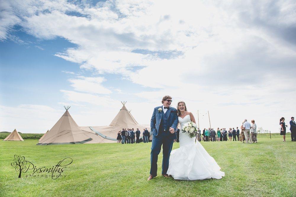Arrowe Brook FArm tipi wedding reception