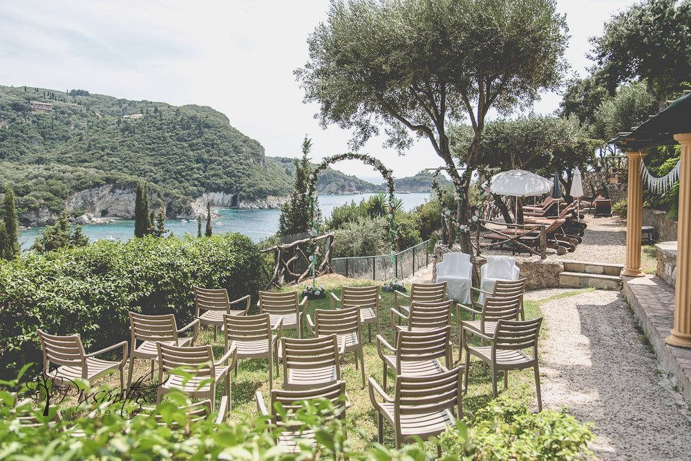 Paleokastritsa Corfu destination wedding ceremony location