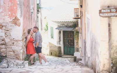 Lakones Village Corfu Pre Wed Shoot