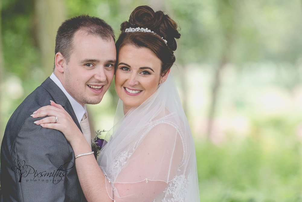happy bride and groom Formby Golf Resort