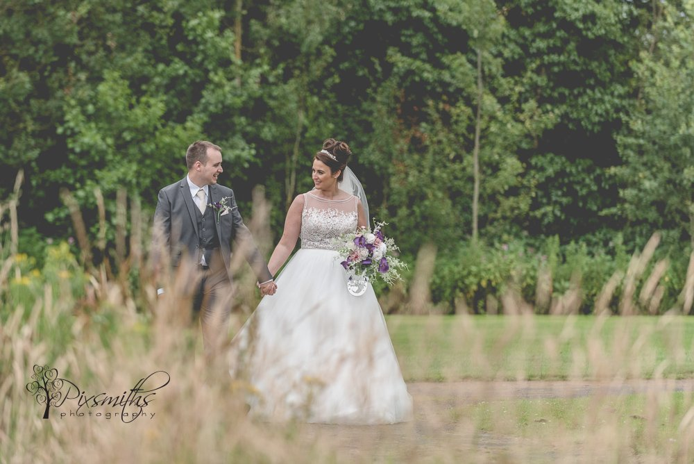 wedding day portrait Formby Hall Golf Resort