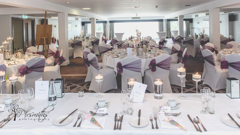 Formby Hall Golf Resort wedding reception details