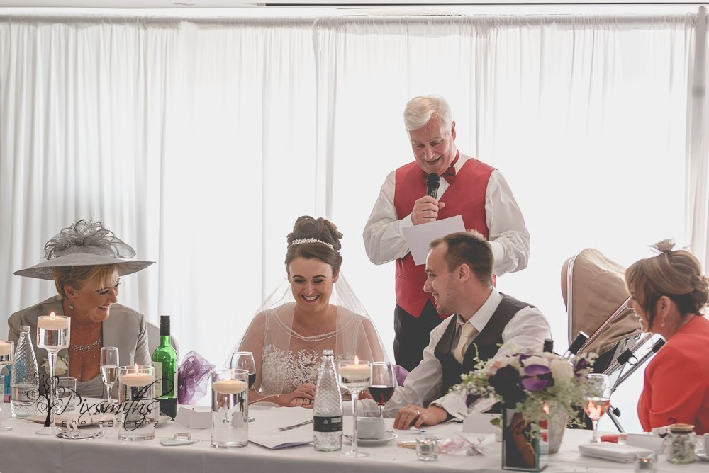 Toastmaster poet at Formby Golf Resort wedding