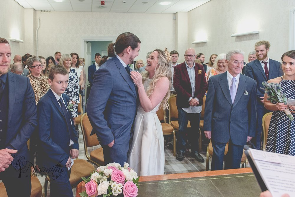 midweek wedding ceremony Birkenhead Town Hall