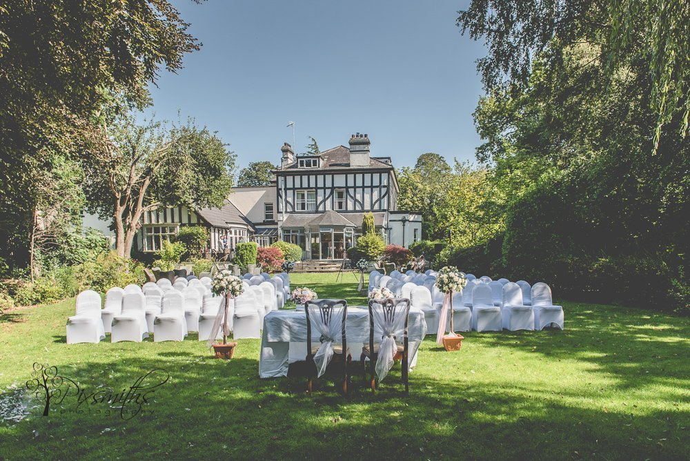 Brook Hall Outdoor wedding set up