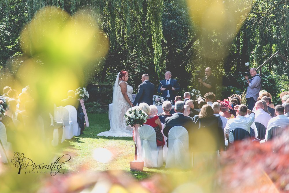 Brook Hall Outdoor wedding ceremony