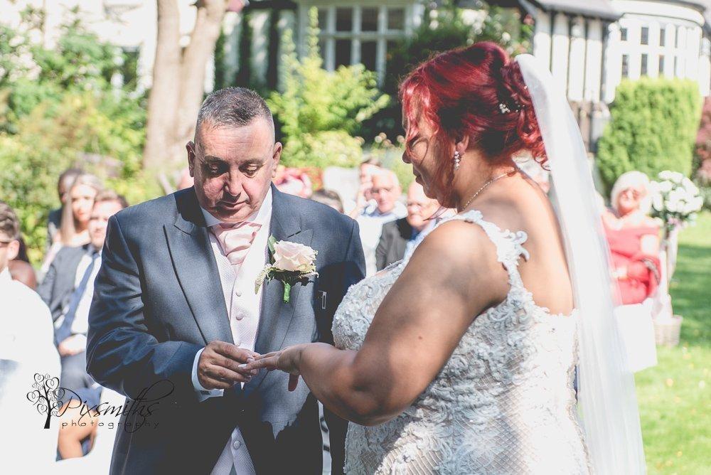 Brook Hall Outdoor wedding vows