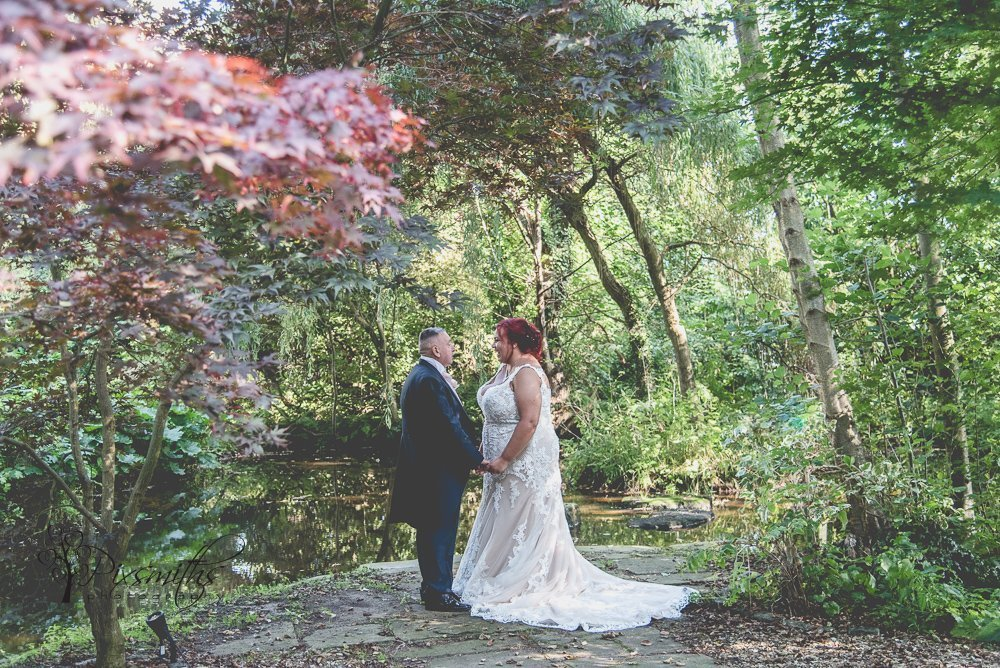 Brook Hall Outdoor wedding portraits, Cheshire wedding venue
