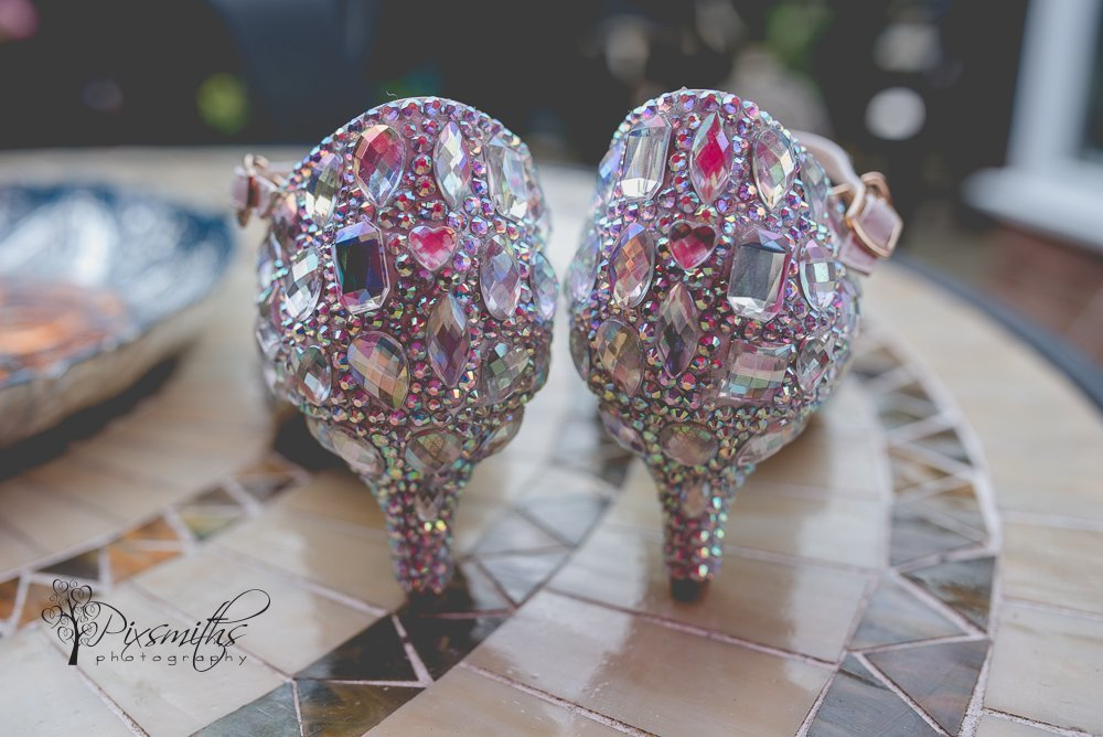 detail of Crystal Queen shoes