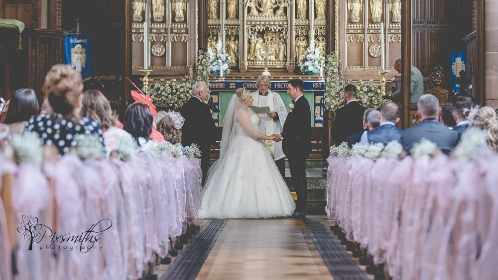 wedding ceremony St Saviours, Oxton Wirral