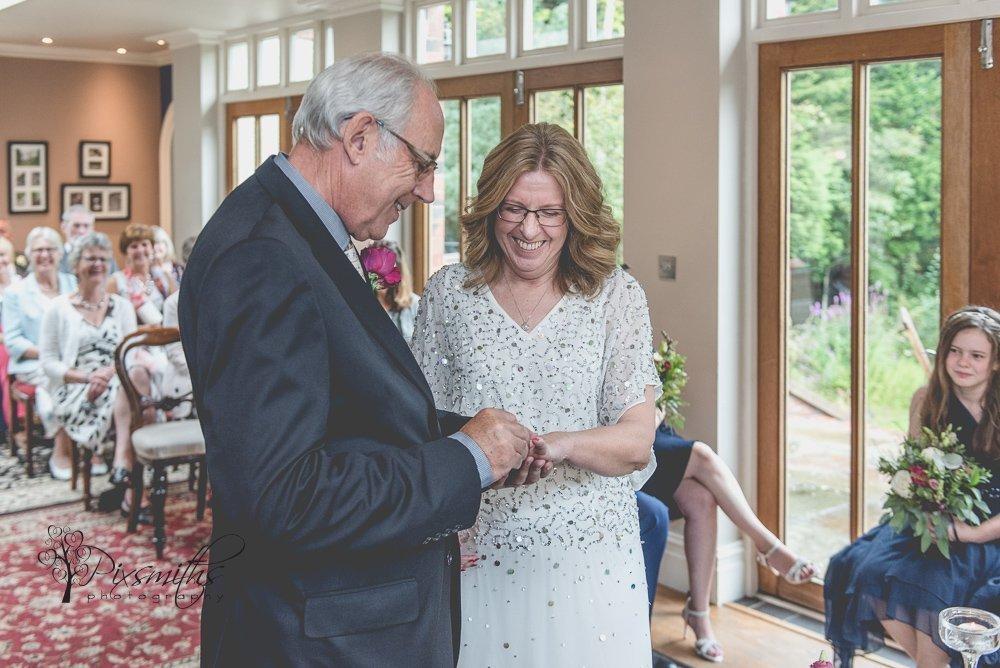 Mere Brook House wedding ceremony