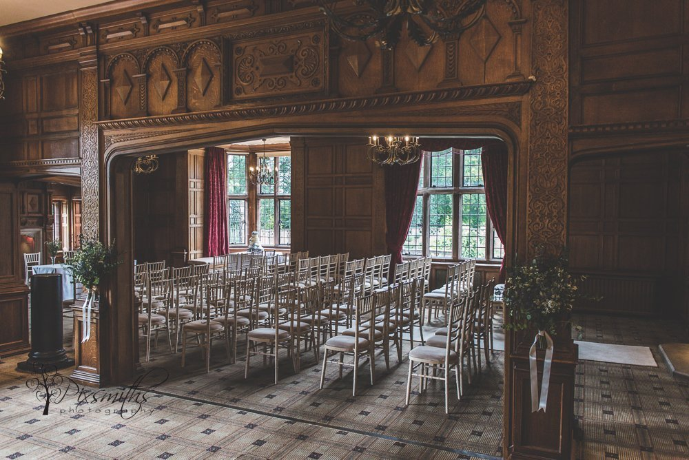 Indoor ceremony room Inglewood Manor Wedding Photography